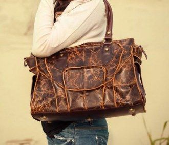 Handmade Leather Handbag. This would make a great computer bag