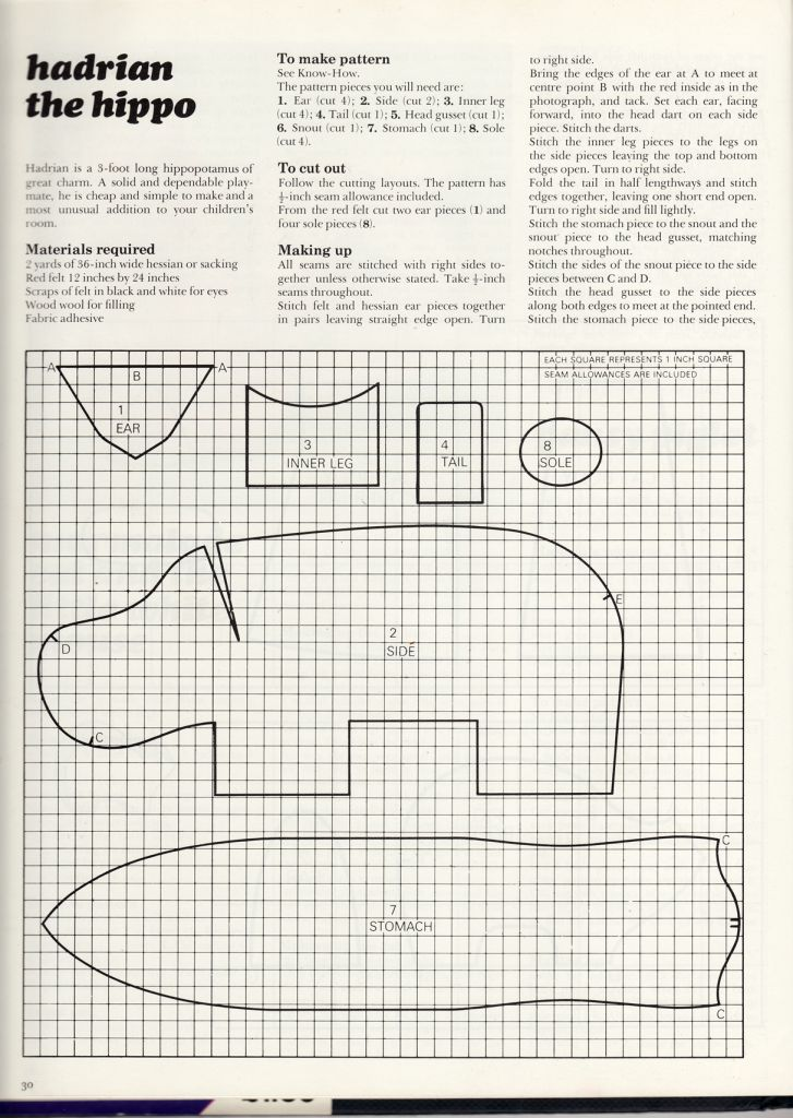 Toy Hippo Pattern