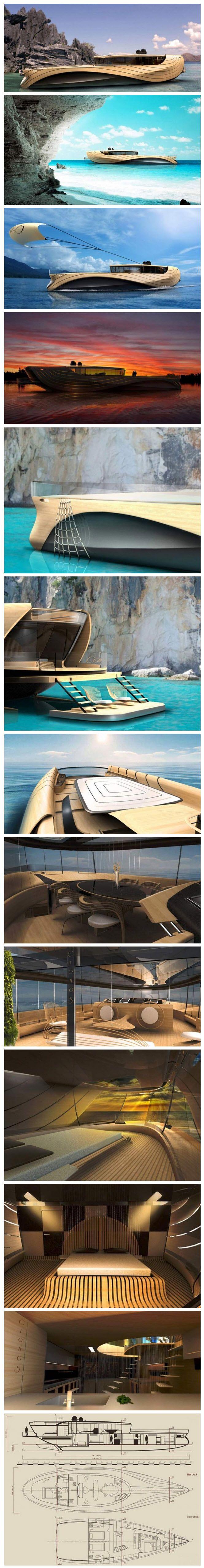 Futuristic Cronos Yacht concept