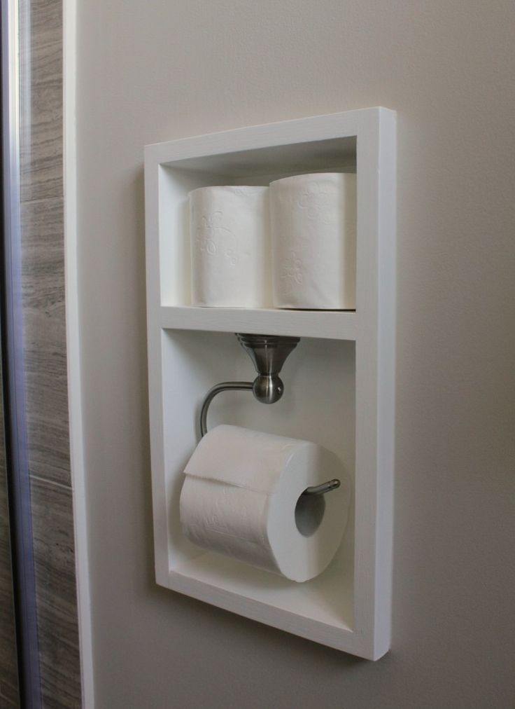 Recessed Toilet Paper Holder Tutorial