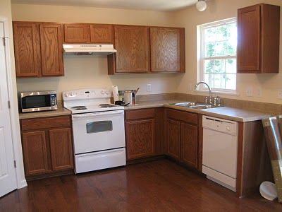Painting Oak Cabinets White and Gray - What a transformation - Looks great!