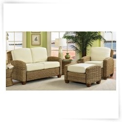 wicker sunroom furniture sets. cabana banana chair with ottoman and loveseat infuse your living room decor a natural tropical mood this wicker furniture set sunroom sets