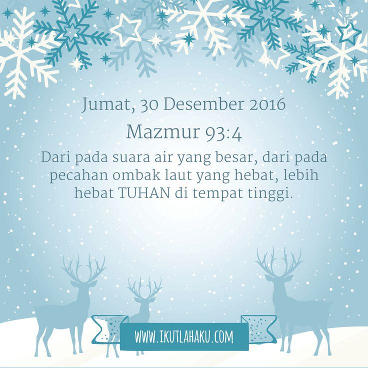 Renungan Hari Jumat 30 Desember 2016