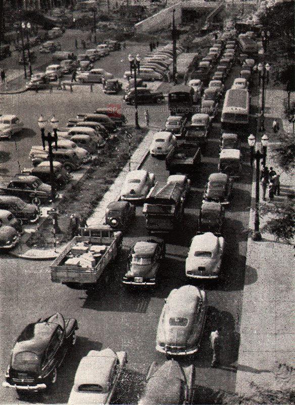Anhangabau in 1949 - Sao Paulo, Brazil