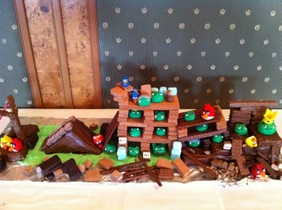 Angry birds By m185 on CakeCentral.com: Bird Cakes, Children Birthday, Cakes Ideas, Angry Birds Cakes, Brid Cakes, Angry Brid, Cakecentr With, Birthday Ideas, Birthday Cakes