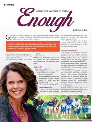 If you missed the April JOY! magazine article written by our 2016 Beauty for Ashes speaker, Michele Cushatt, you can read it here: http://bit.ly/1NBTOEV