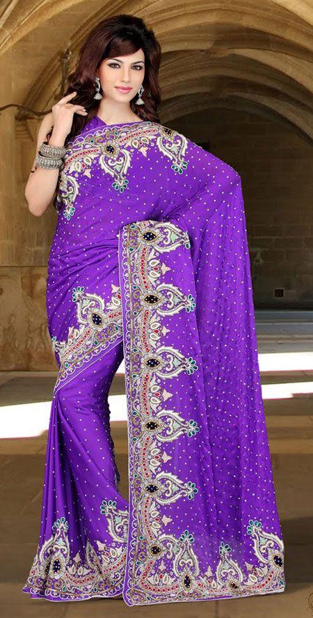 Lavender Color Satin Designer Saree TPSE705. Sale: $399.00
