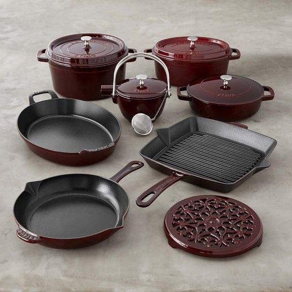 staub castiron 12piece cookware set