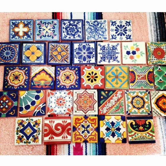 "Reserved for Sarah: 20 4x4"" Mexican Spanish Style Tile Coasters"