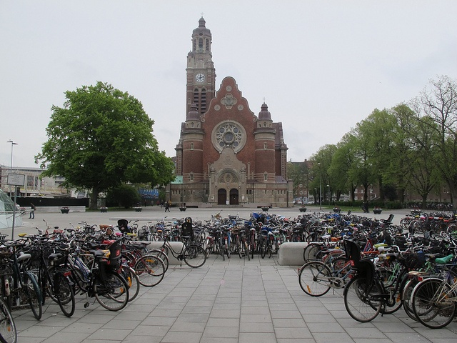 This is one of the squares near to Malmo University. I love the bicycles leading the eye to the chuch which is named St John's Church by Damien Walmsley, via Flickr