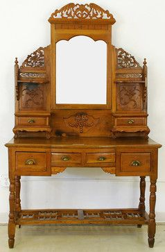 Chinese Dressing Table - asian - makeup mirrors - new orleans - Silk Road Collection