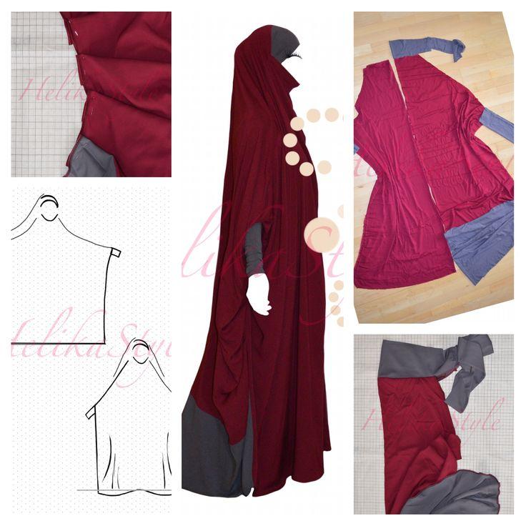 Overhead abaya, izdal, jilbab, jilbeb, khimar - we know how to sew! Follow helikastyle-empire blog!