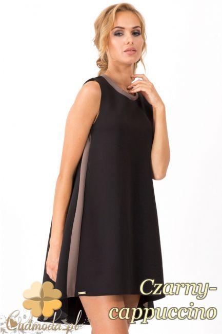 Damska sukienka na ramiączkach z przedłużonym tyłem marki Makadamia.  #cudmoda #moda #styl #ubrania #odzież #sukienki #clothes #dresses
