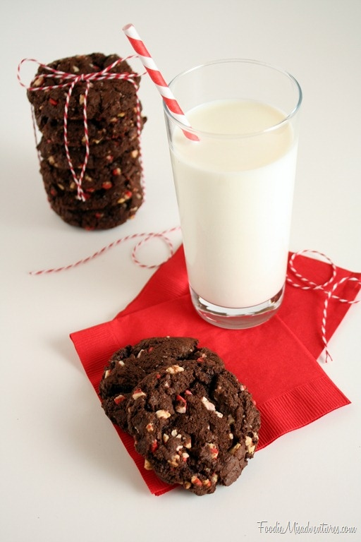 Double Chocolate Peppermint Crunch Cookies | Recipe