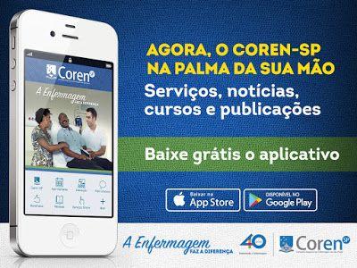♥ COREN-SP lança aplicativo para celular ♥  http://paulabarrozo.blogspot.com.br/2016/06/coren-sp-lanca-aplicativo-para-celular.html