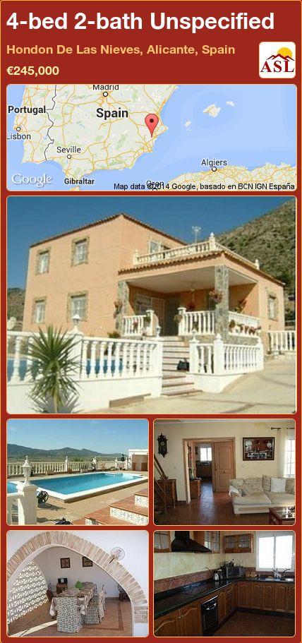 4-bed 2-bath Unspecified in Hondon De Las Nieves, Alicante, Spain ►€245,000 #PropertyForSaleInSpain