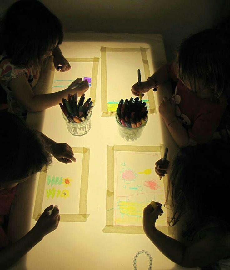 Love this idea. Great with sharpies pens. REGGIO CHILDREN INSPIRED