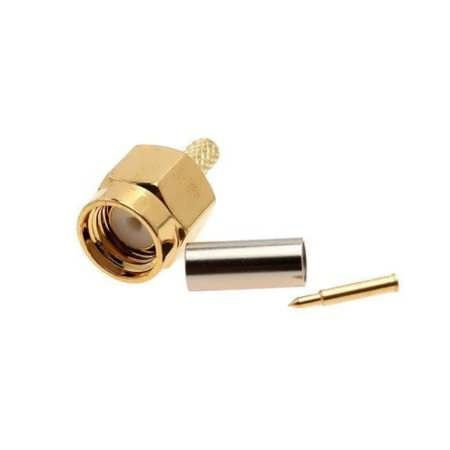 SMA Male 50-1.5 RF connector For RG174 RG316 LMR100 Cable    Description: Connector: SMA Male (inner needle) Characteristic Impedance: 50 ohm Suitable for RG174 RG316 LMR100 Cable  Package Included: 1 x SMA Male 1.5 Connector