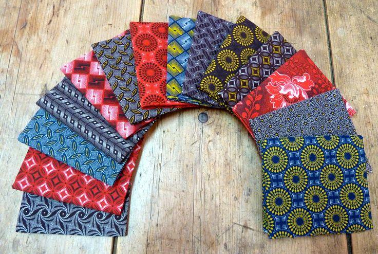 Beautiful Shweshwe prints in indigo, chocolate and red, imported by Meerkat Trading in Canada. www.meerkatshweshwe.com