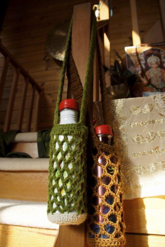 Crochet Water Bottle Holder with Water Bottle by MysticCraft, $25.00
