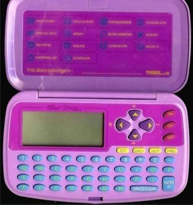 Dear Diary! oh the 90's... the password I use till this day is the same as when I needed one for this gadget!