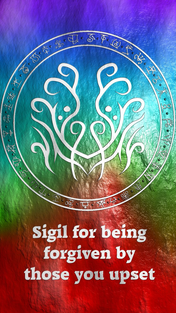 post-mortem-glam said: Sigil for being forgiven by those you upset? Answer: Sigil for being forgiven by those you upset Here you go my friend. Thank you for the request, I appreciate it. Sigil...