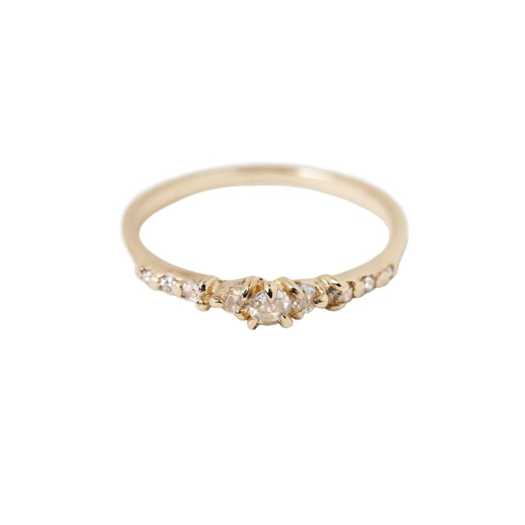 All at once delicate and intricately structured. Elegant and modern, but ancient at heart. Made with beautiful, warm 14k gold and the oldest of diamond cuts, our Cyndra ring is a future heirloom. She couples flawlessly with any other bands or can shine all on her own. #engagementring #finejewelry #rosecutdiamonds #rosecut #bridal #ceremonial #handmade #toronto #futureheirloom #ring #alternativeengagementring #minimalengagementring #engaged
