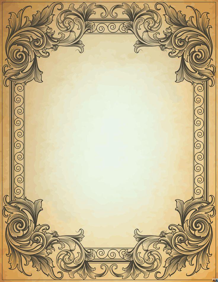 бумага с вензелями картинка телки