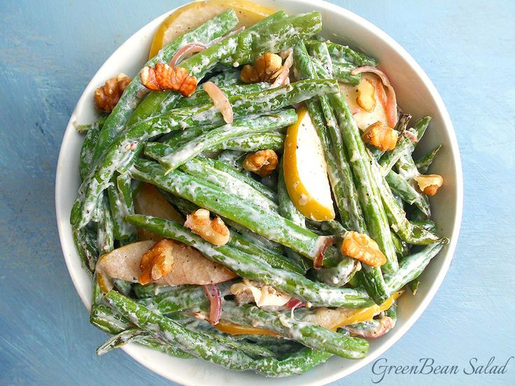Tangy green bean salad