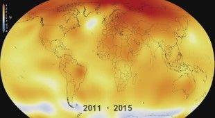 Zmiany temperatury na świecie w latach 1880-2015