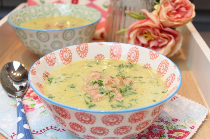 Low Carb Rezepte von Happy Carb: Kartoffel-Kresse-Suppe mit Krabben.
