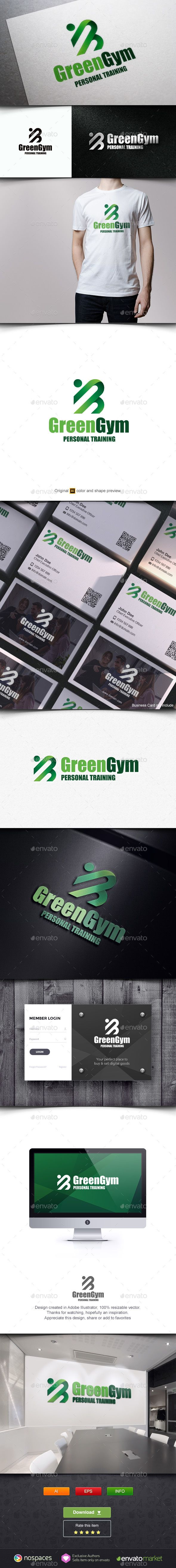 Green Gym Logo — Vector EPS #system #unique • Available here → https://graphicriver.net/item/green-gym-logo/7061195?ref=pxcr