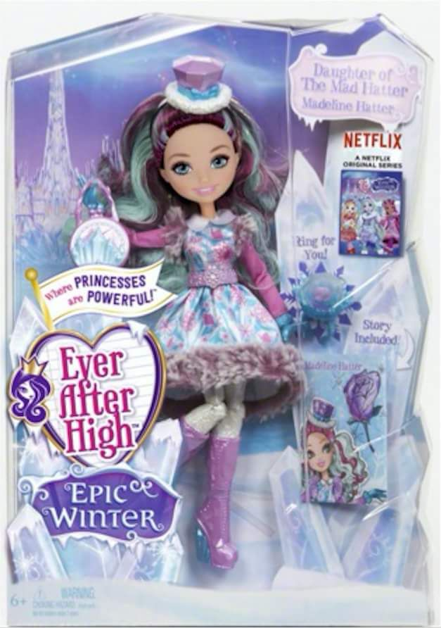 Ever After High Epic Winter Madeline Hatter doll. Credit: Ever After High dolls on Facebook
