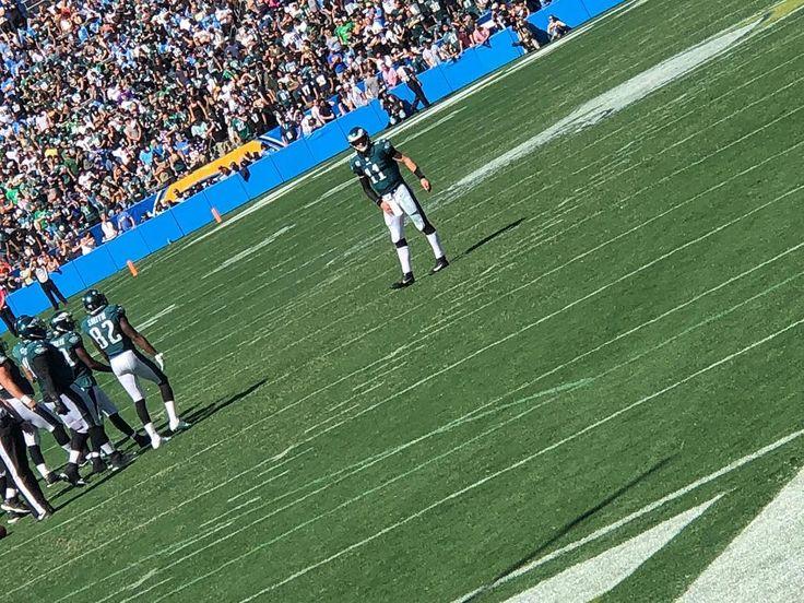 Throwback to Carsons first time playing in Los Angeles vs the LA Chargers  . . . .  Photo Cred: Me  #CarsonWentz #Wentzylvania #PhiladelphiaEagles #Eagles #WeBleedGreen #EagleFamily #Throwback #AwayGame #Philadephia #Calidelphia #WeTookOver #NorthDakotaState #NDSU #InWentzWeTrust #NFL #Football #FLYEAGLESFLY #Igdaily #Football #FootballSeason #GirlsThatLoveFootball