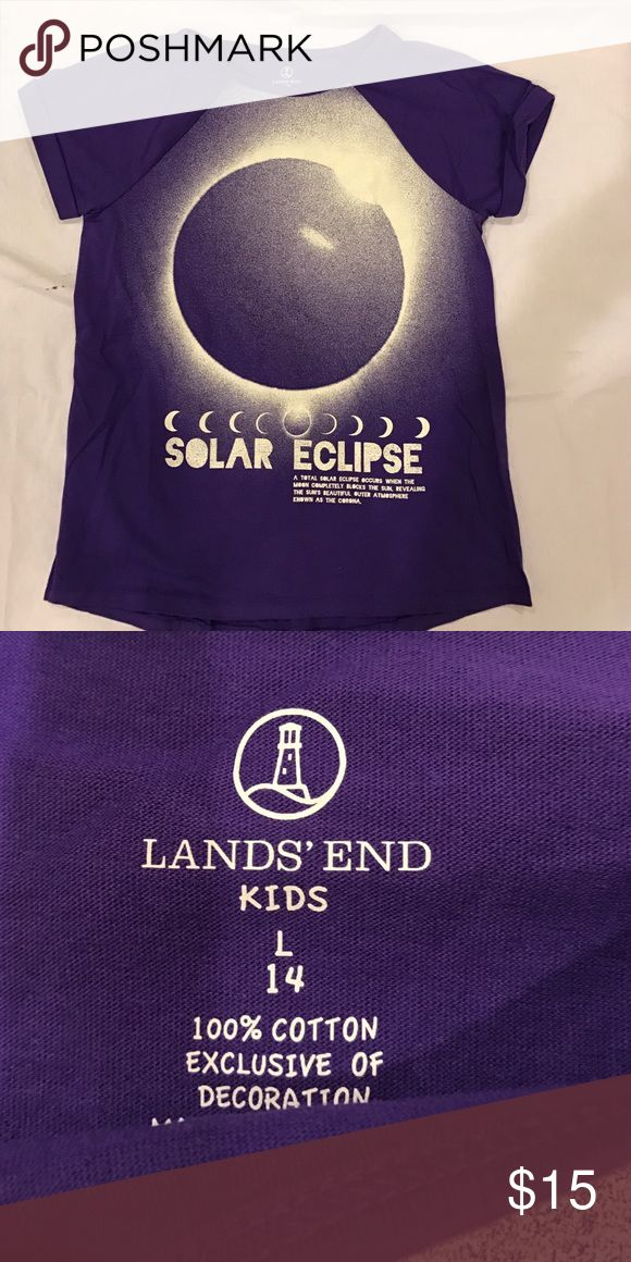 Lands' Ends Kids purple Solar tee shirt L 14 Great condition Lands' End Shirts & Tops Tees - Short Sleeve