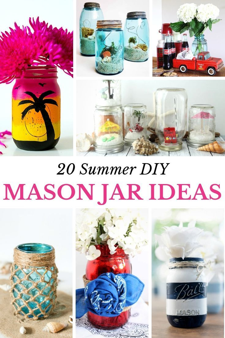 Unique Summer Mason Jar Crafts Mason Jar Decorations Mason Jar Crafts Jar Crafts