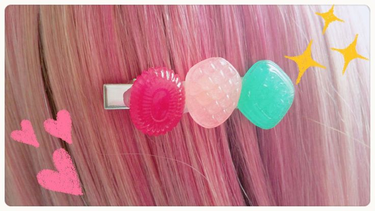 candy hair clip,resin candy,Fun Cute Kitsch handmade hair clip,Kawaii hair clip