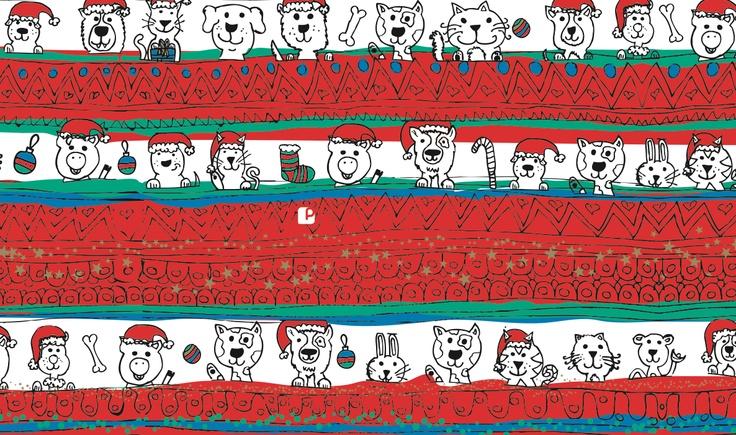 papeles de pascua la polar... ilustración Agustin Fuentes