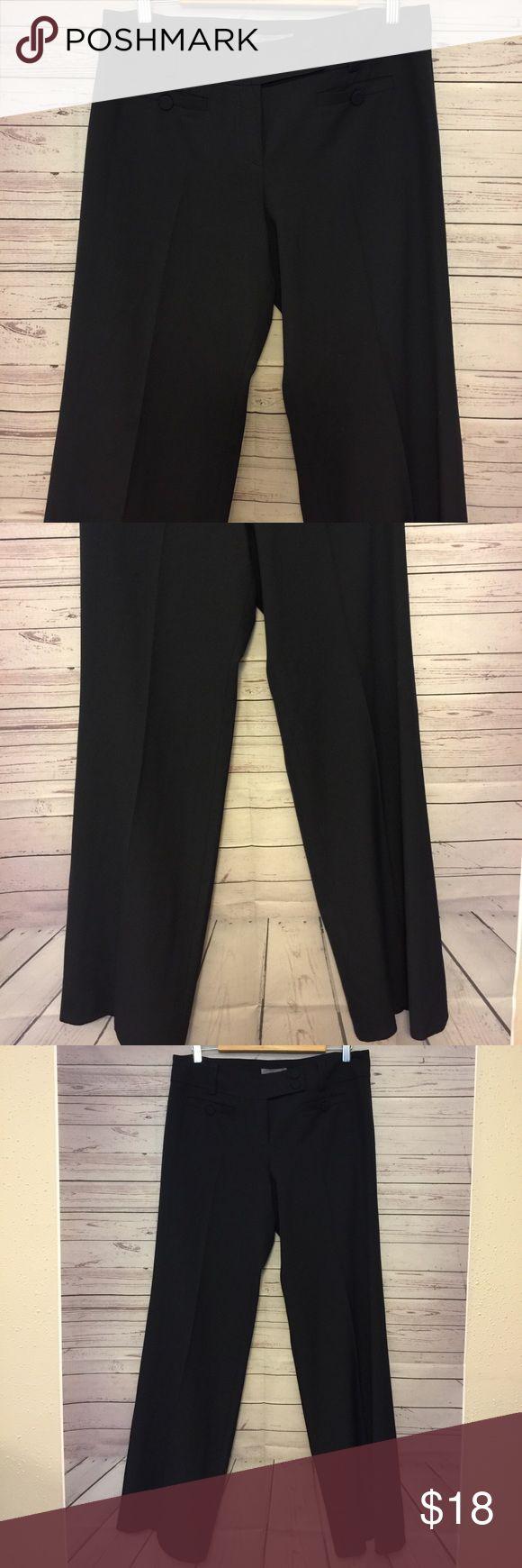 Ann Taylor Women's SZ 8 navy blue dress pants Gently used no flaws waist 17 in Length 41 in inseam 33 in Ann Taylor Pants