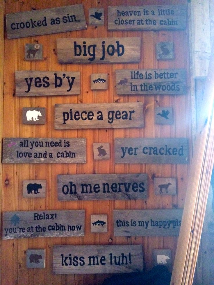 Cabin Decor - Signs with Newfoundland Sayings