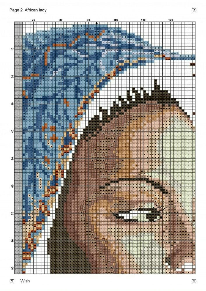 African Lady x-stitch #2