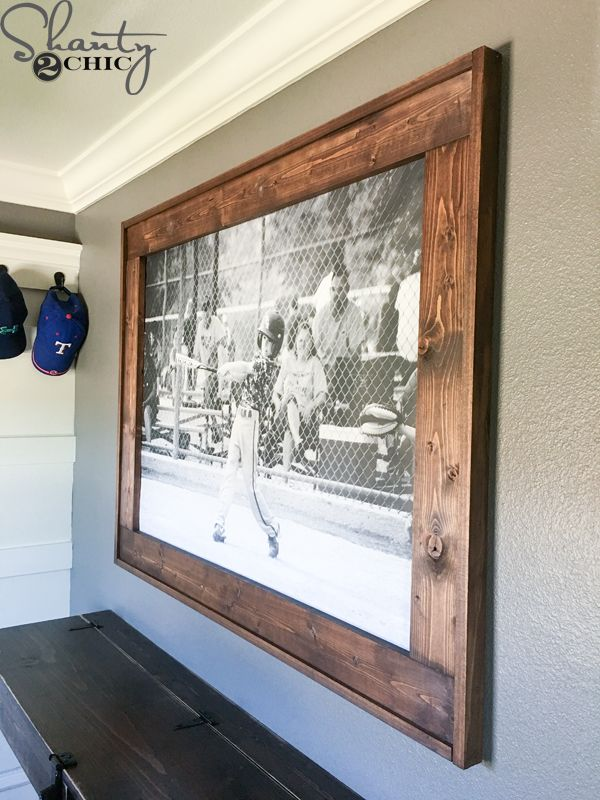 diy engineer print frame - Wood Poster Frames