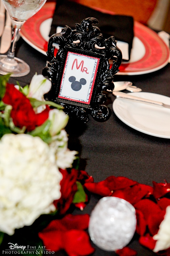 """Mr."" Mickey Mouse frame for the groom's seat at the head table"