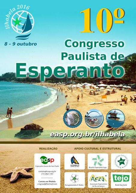 Ilhabela recebe o 10º Congresso Paulista de Esperanto