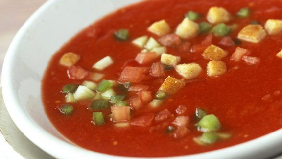 Rezept: Kalte Gemüsesuppe (Gazpacho)