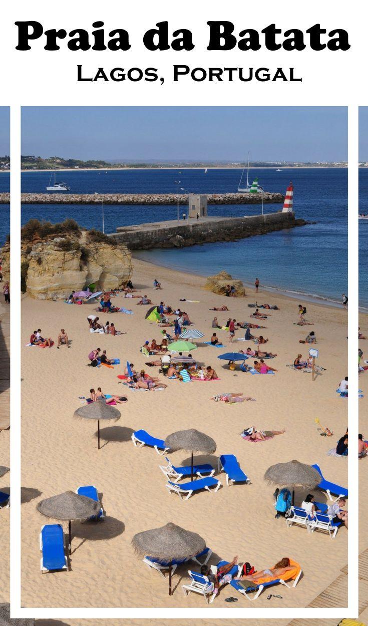 Praia da Batata, no centro de Lagos na Região do Algarve, uma das praias mais bonitas de Portugal.