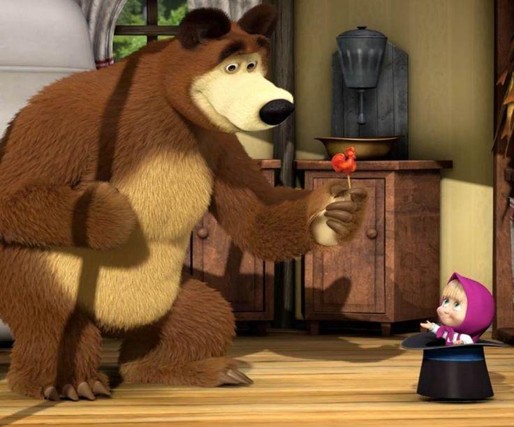 You can download Gambar Animasi Masha and The Bear Lucu Animation Gif