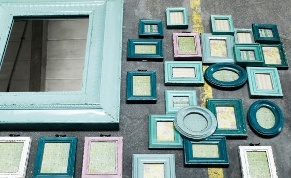 Bilderrahmen Holz Weis 40X40 ~ turquoise, frames, decoration  My favorite colors  Pinterest