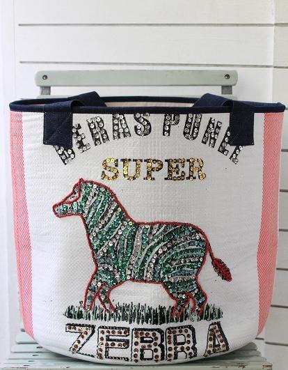 zebra basket | www.bisousla.com