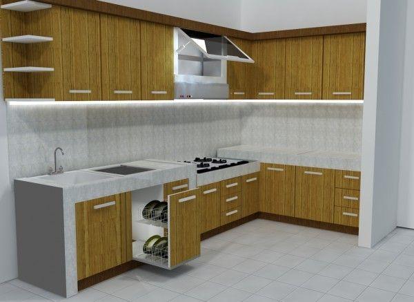 Interior kitchen set dapur rumah minimalis desain for Kitchen set pinterest